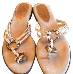 Isabella Fiore Cream/white golf Sandals