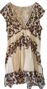 Free People short dress White and Floral Night Out on Tradesy