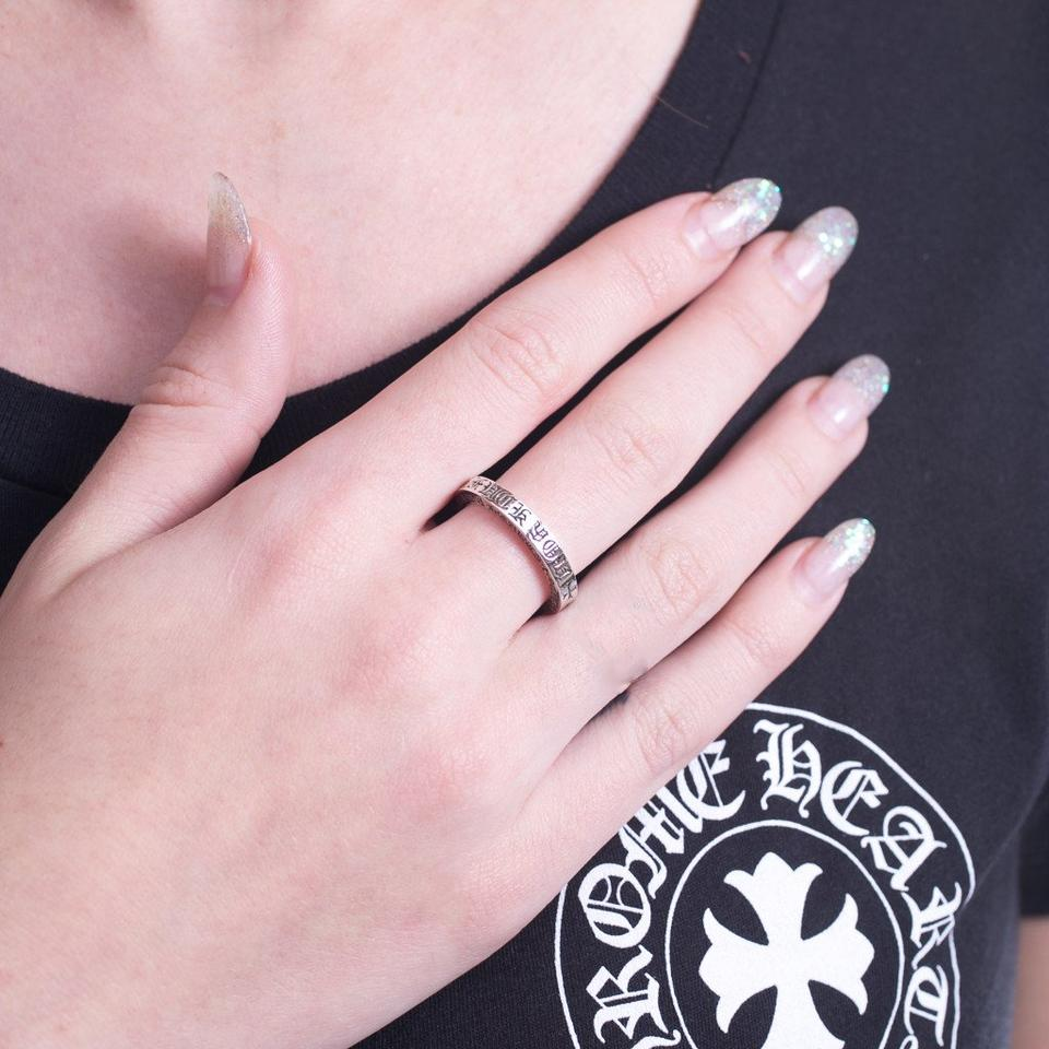 Chrome Hearts Silver Ch Fu 3mm Spacer Multiple Sizes Ring - Tradesy