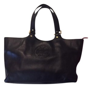 Tory Burch Handbag Leather Tote in Black