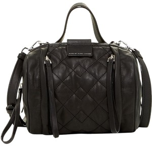 Marc by Marc Jacobs Quilted Leather Moto Satchel in Black