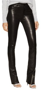 J Brand Leather Bootcut High Rise Pants