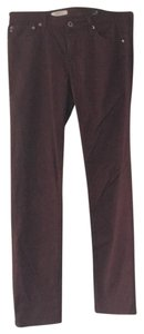 AG Adriano Goldschmied Skinny Pants Maroon