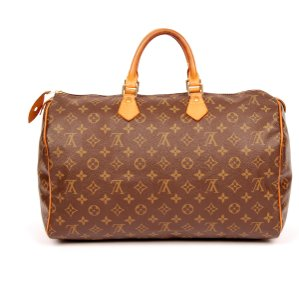 Louis Vuitton Speedy 40 Monogram Canvas Satchel in Brown