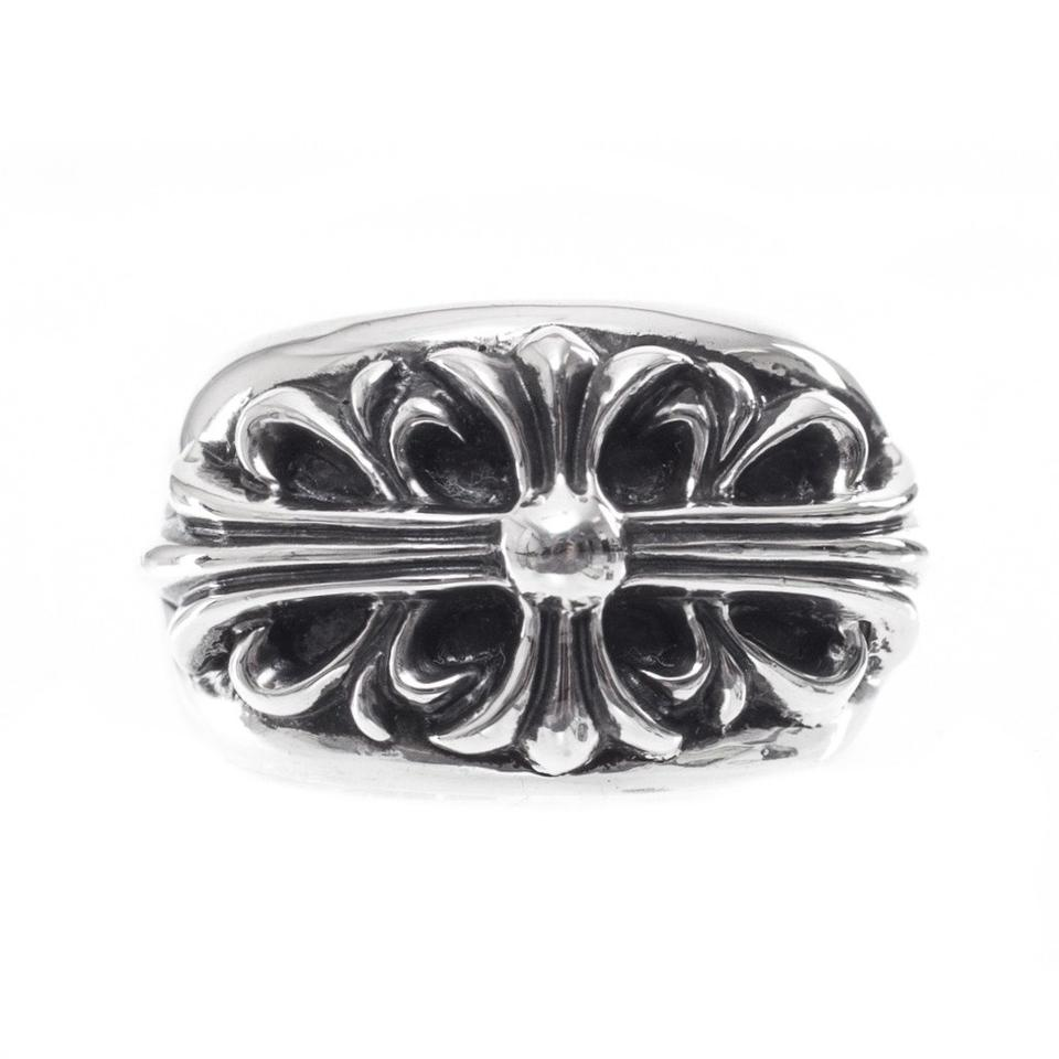 814f2570429 Chrome Hearts Silver Ch Floral Cross Multiple Sizes Ring - Tradesy