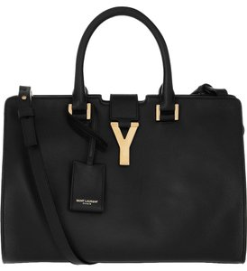 Saint Laurent Classic Y Ysl Cabas New Business Tote in Black