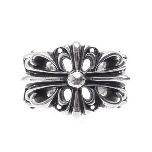 Chrome Hearts DOUBLE FLORAL CROSS RING MULTIPLE SIZES