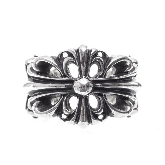 Preload https://img-static.tradesy.com/item/20469654/chrome-hearts-silver-double-floral-cross-multiple-sizes-ring-0-0-540-540.jpg