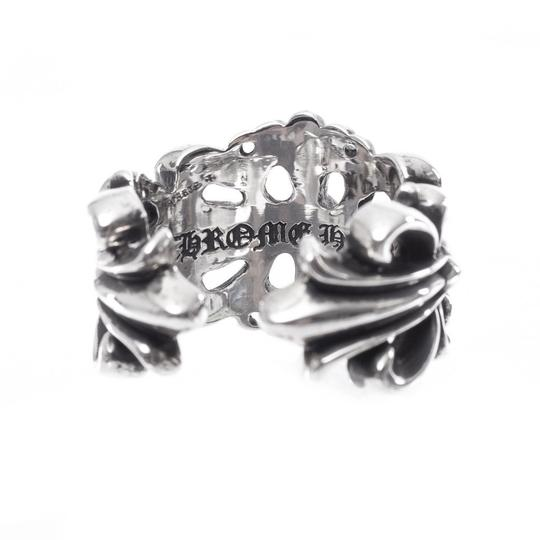 Chrome Hearts DOUBLE FLORAL CROSS RING MULTIPLE SIZES Image 2