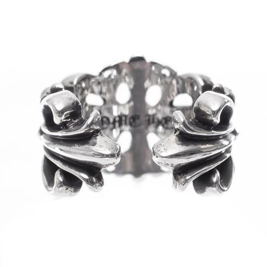 Chrome Hearts DOUBLE FLORAL CROSS RING MULTIPLE SIZES Image 3