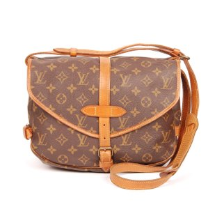 Louis Vuitton Monogram Canvas Shoulder Brown Messenger Bag