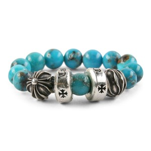 Chrome Hearts CH PLUS SPACER TURQUOISE BEAD RING MULTIPLE SIZES