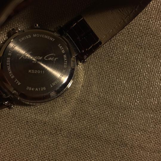 Kenneth Cole Kenneth Cole mother of pearl watch with chocolate leather band Image 4