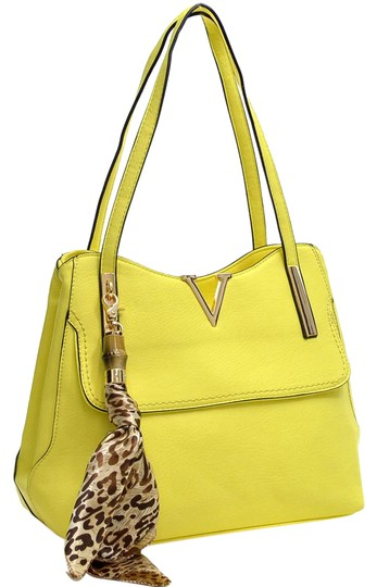 Preload https://img-static.tradesy.com/item/20469707/scarf-accent-yellow-faux-leather-shoulder-bag-0-1-540-540.jpg