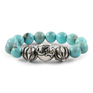 Chrome Hearts CH PLUS BALL TURQUOISE BEAD RING MULTIPLE SIZES