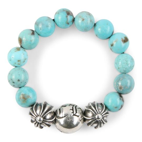Chrome Hearts CH PLUS BALL TURQUOISE BEAD RING MULTIPLE SIZES Image 1