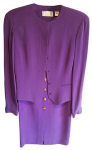 Dana Buchman Dana Buchman purple silk skirt and jacket