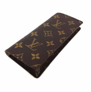 Louis Vuitton Signature Monogram Etui a Lunettes Simple Luxury Suede Eyeglass Case