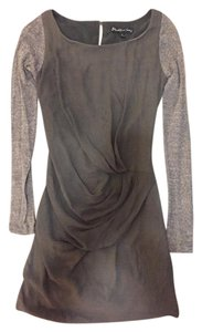 Elizabeth and James short dress Olive and Taupe Draped Silk Fitted Scoop Neck on Tradesy