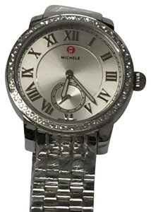 Michele 'Harbor Diamond' Watch with Bracelet, 35mm MWW28A000001