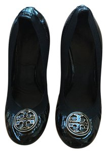 Tory Burch Black Patent Leather Black wedge Wedges