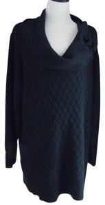 Fenn Wright Manson Classic Cable Knit Tunic Off Shoulder Cowlneck Sweater