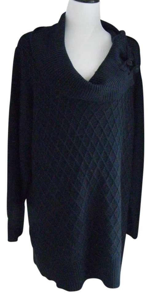 Fenn Wright Manson Cable Knit Plus Size 2x 20 22 Navy Blue Sweater