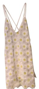 Tobi short dress White and Yellow on Tradesy