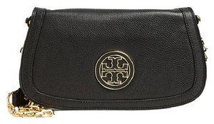 Tory Burch Hnadbag Amanda Logo Black Clutch