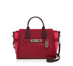 Coach Swagger Carryall Satchel in Red Currant Multi