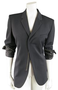 Jean-Paul Gaultier Zip Cuff Italian Wool Notch Lapel Black Jacket