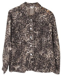 Chico's Animal Print multi color Jacket