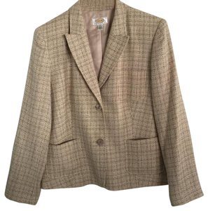 Talbots Tan Plaid Blazer