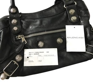 Balenciaga Satchel in black w/ silver hardware