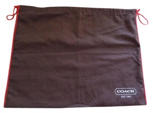 Coach 18.5x14 BROWN Dust Cover Protection for bag shoes large