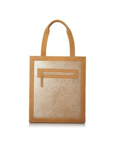 Hare + Hart Calf-hair Leather Structured Shoulder Bag
