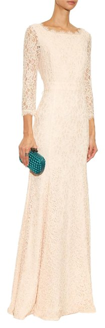 Item - Nude-pink Dvf Zarita Gown Lace New Long Formal Dress Size 8 (M)