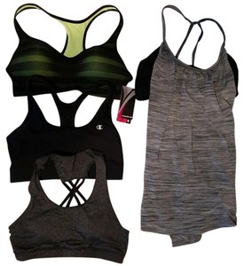 Lucky Brand 3 sports bras, 1 shirt with built in bra