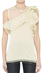 Valentino Ruffle One Sheer Sleeveless Top