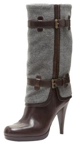 Cole Haan Knee High Leather Heel Brown Boots