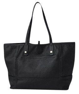 Stella & Dot Leather Runway Tote in BLACK