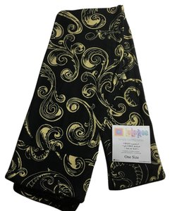 LuLaRoe Gold Swirls/ Black Background Leggings