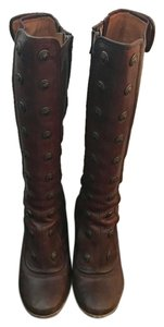 Frye Leather Heeled Brown Boots