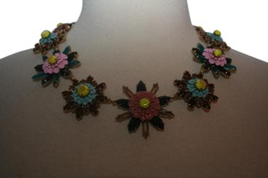 J.Crew J.CREW FLORAL MEDALLION NECKLACE