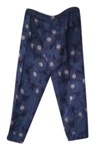 Elevenses Capri/Cropped Pants Floral blue and gray