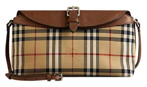 Burberry Leather/canvas Shoulder Bag