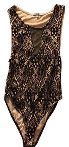 Charlotte Russe Top black and tan