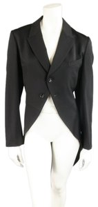 COMME des GARONS Tuxedo Peak-lapel Tails Wool Black Jacket