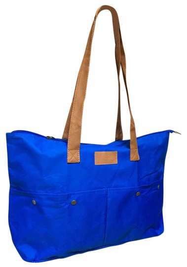 Preload https://img-static.tradesy.com/item/20470646/new-packable-foldable-blue-fabric-tote-0-1-540-540.jpg
