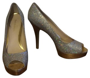 Enzo Angiolini gold and silver Platforms